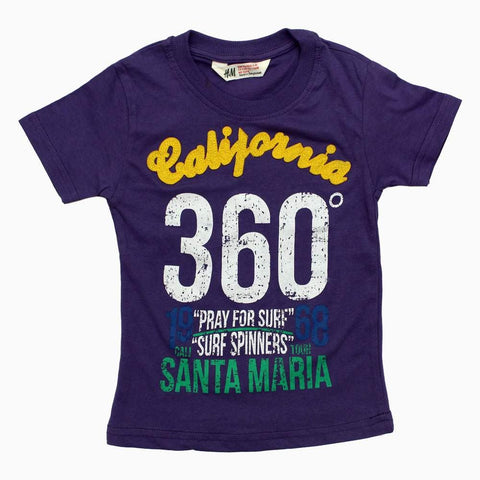 HnM California Applique Girls Purple tshirt