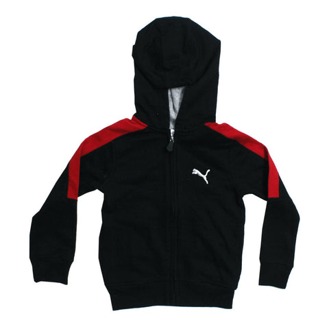 PUMA Black Premium Cotton Fleece Zipper Hoodie