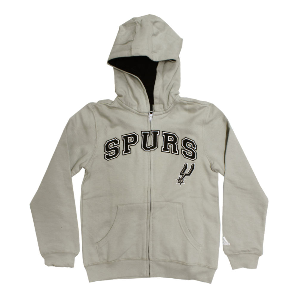 ADIDAS Spurs Embroidery light Grey Boys Cotton Hoodies