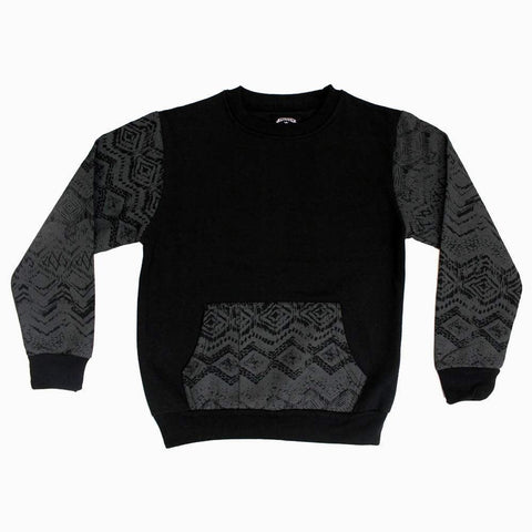 Black boys Sweat shirt with abstract printed sleeves