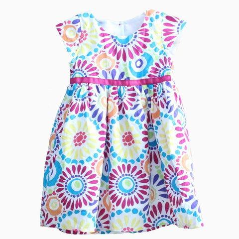 Carters Colourful flower patterns Dress