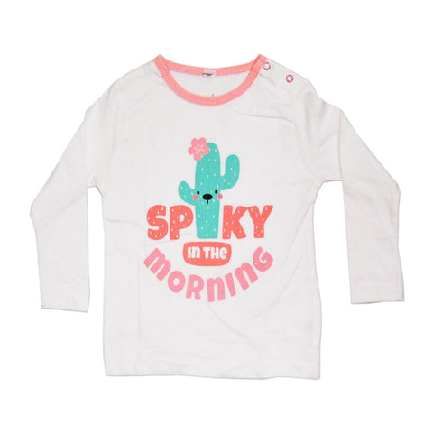 Spiky In Morning Pink Cotton Night Tshirt