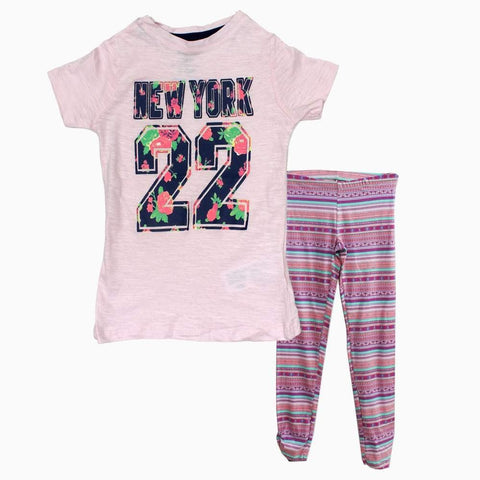Red Tag New York Cotton Girls baby Pink 2 piece Set