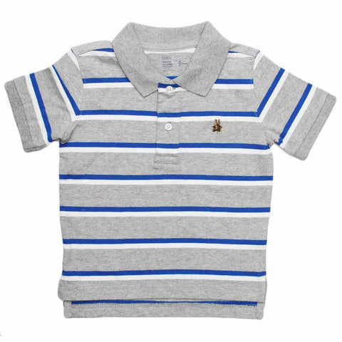 BABY GAP( Cut Label ) Yarn Dyed Grey Polo