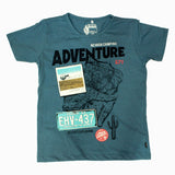 NEVADA Adventure Boys Premium Cotton Blue Tshirt