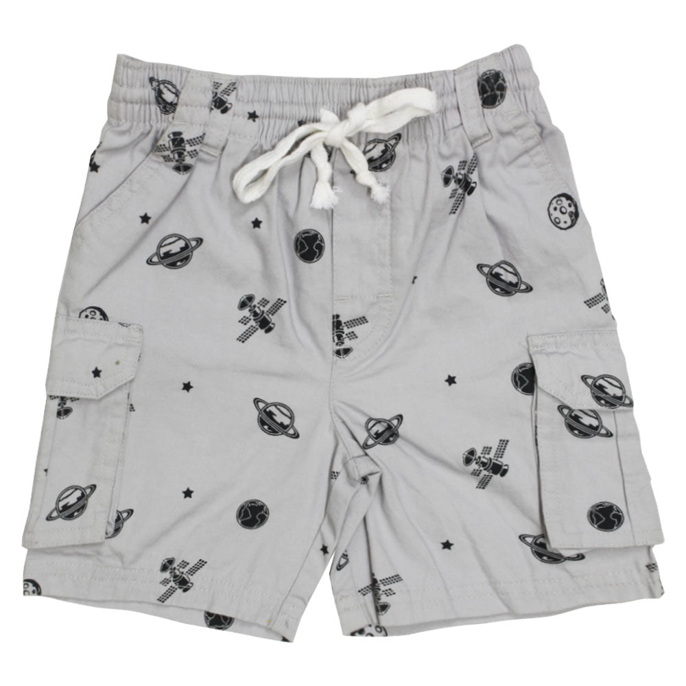 GARANIMALS Printed Grey Boys Premium Cotton Short