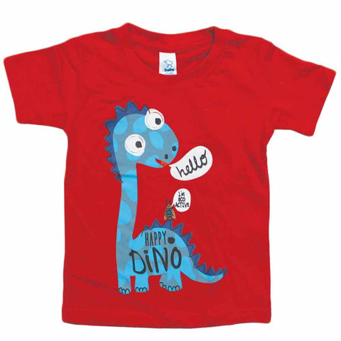 BABY CLUB Dino Red Premium Cotton Tshirt