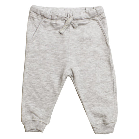 LEFTIES Grey Cotton Terry Trouser