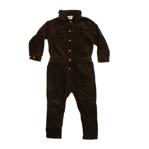 HnM Corduroy Brown Back Embroidered Girls Jump Suit