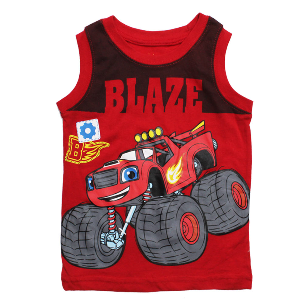 BLAZE Red Cotton Tank Top