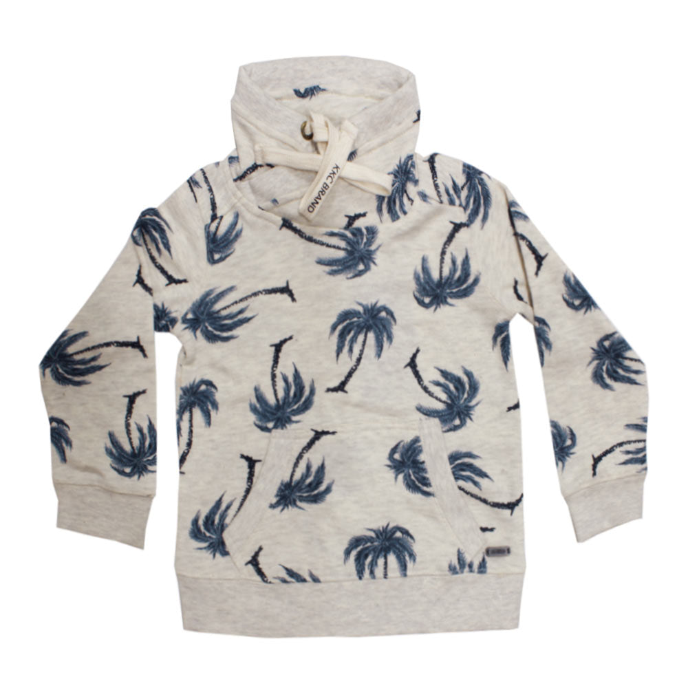KEBO KIDS All over Printed Cotton Heavy Fleece Off White Suit