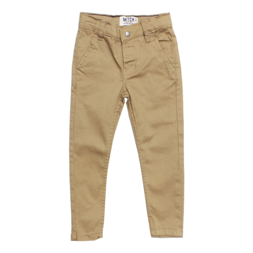 MITCH Brown Boys Cotton Pant