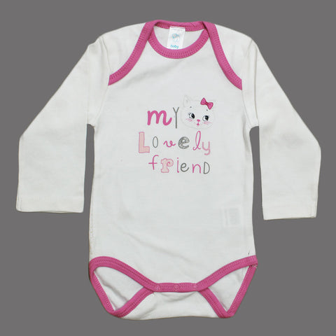 BABY CLUB Lovely Friend Girls Cotton Romper
