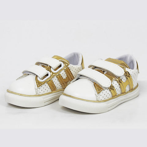 SPORTS Golden Straps White Unisex Shoes