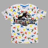 Jurassic World All Over Dinosaur Boys Premium Cotton Heather Grey Tshirt