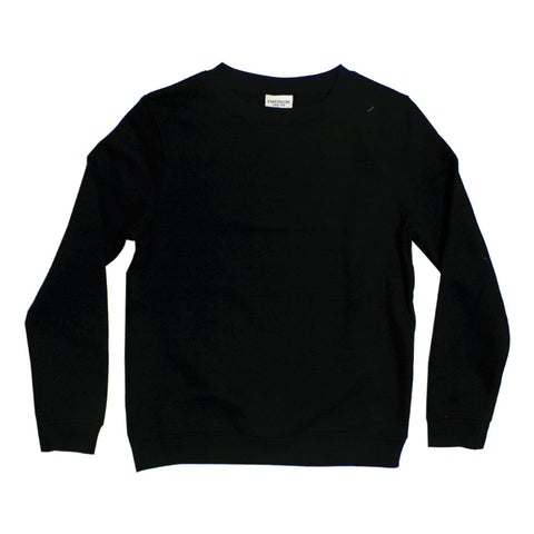 EMERSON Cotton Heavy Fleece Black Imported Sweat Shirt