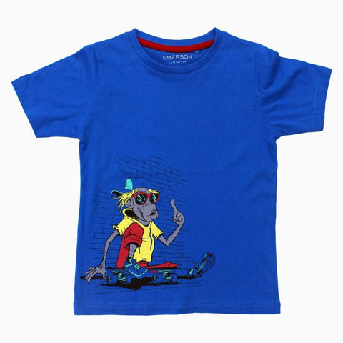 Emerson Skating Rat Boys Blue Tshirt