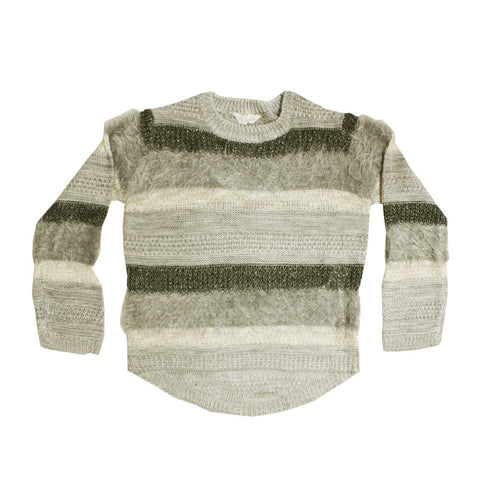 LEFTIES Yarn Dyed Grey Shades Premium Cotton Sweater
