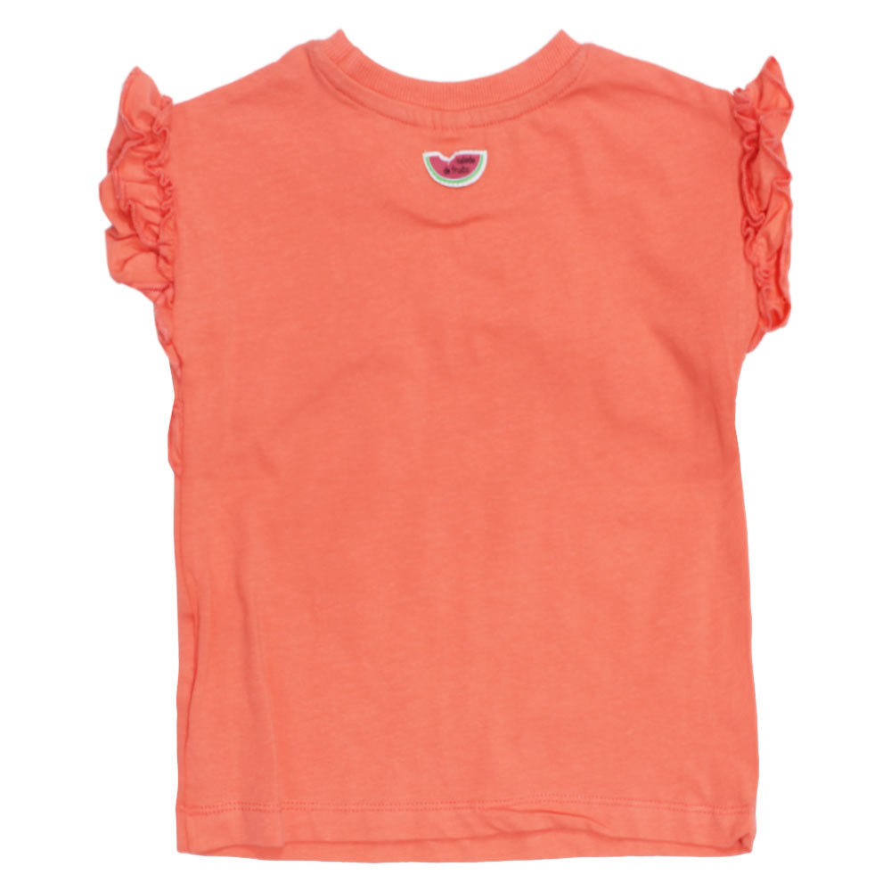 GAGOU TAGOU Frill Pink Girls Cotton Tshirt