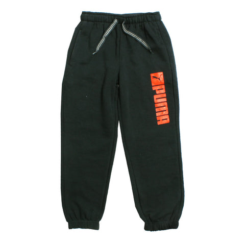 PUMA Orange print Heavy Fleece Blueish Grey Trouser