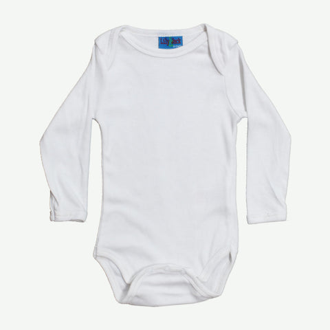 LILY and JACK Boys White Cotton romper