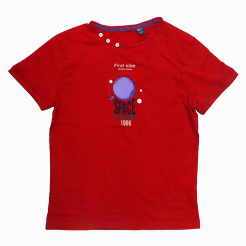 OKAIDi Space Expedition Premium Cotton Unisex Orangish Red Tshirt