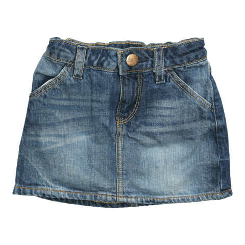 GAP KIDS Blue Sand Washed Girls Denim Skirt