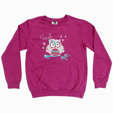 Sweet owl Girls Purple sweat shirt