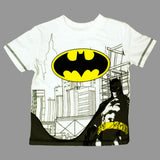 BatMan Chest Print White and Grey Tshirt