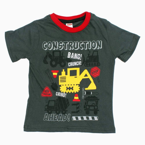 Construction Ahead Boys Tshirt