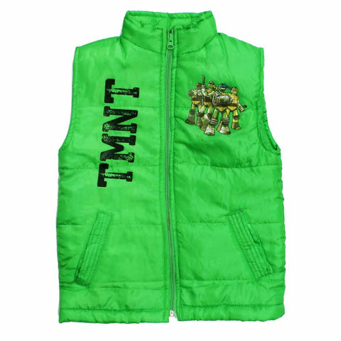 TMNT Boys Polyester padded Light Fashion Printed Green Jacket