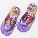 BARBIE Butterfly Print Purple Rubber Flip Flops