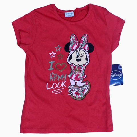 Disney Love army Look Minne Mouse Girls Pink Tshirt