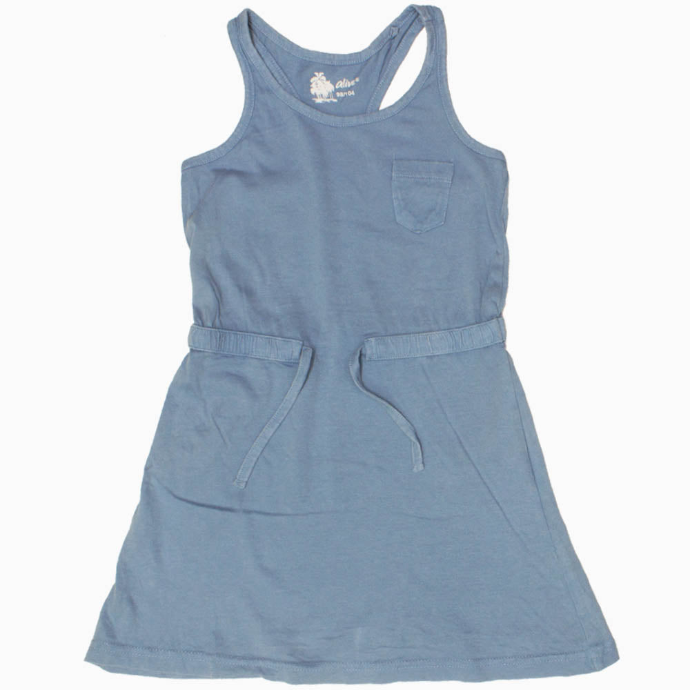 ALIVE Premium Cotton Blue Girls Dress
