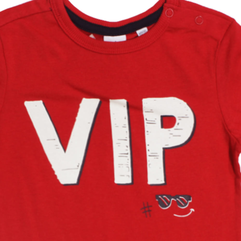 BWKIDS VIP Red Boys Premium Cotton Tshirt