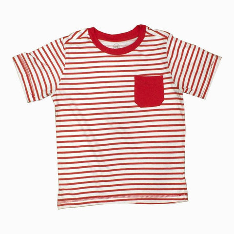URB Red and White Stripes Boys Tshirt
