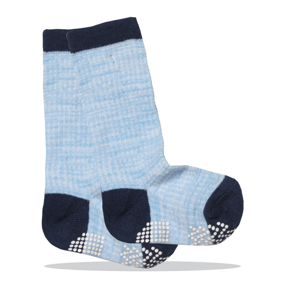 Anti Skid Blue Boys Cotton Socks