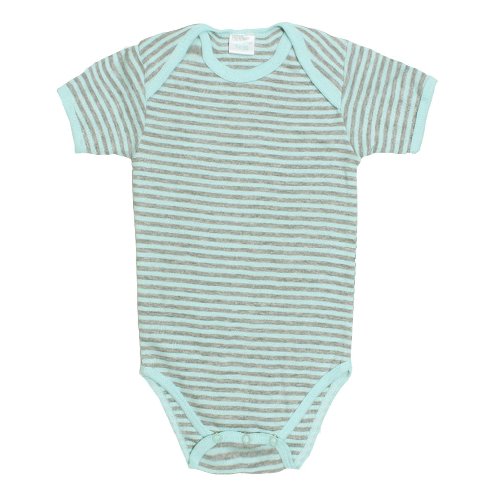 BAMBINO Grey And Green Cotton Romper