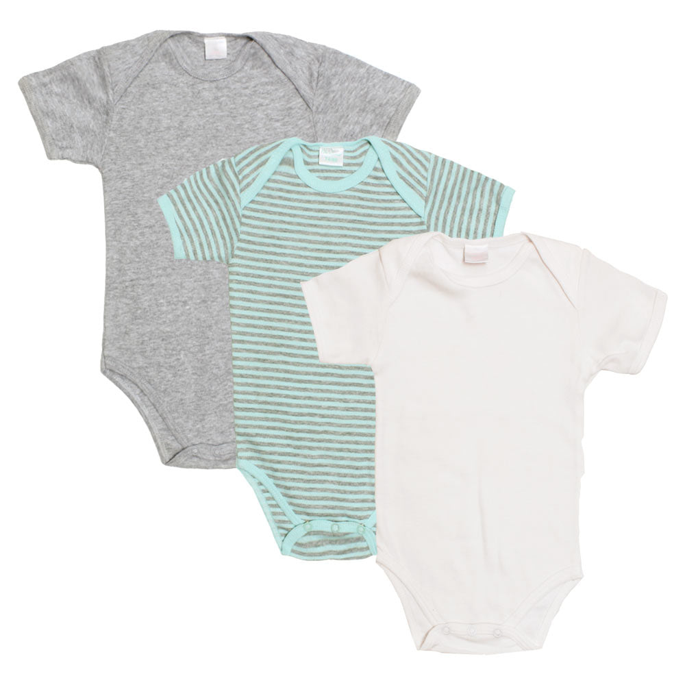 BAMBINO Grey And White Boys Cotton 3 Piece Sets