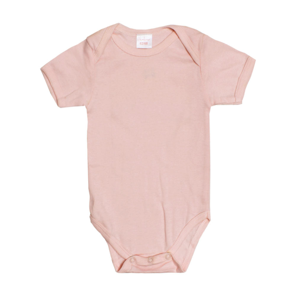 BAMBINO Pink Girls Cotton Romper