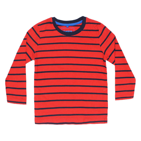 BLUE ZOO Red And Blue Stripes Boys Cotton 2 Piece Set