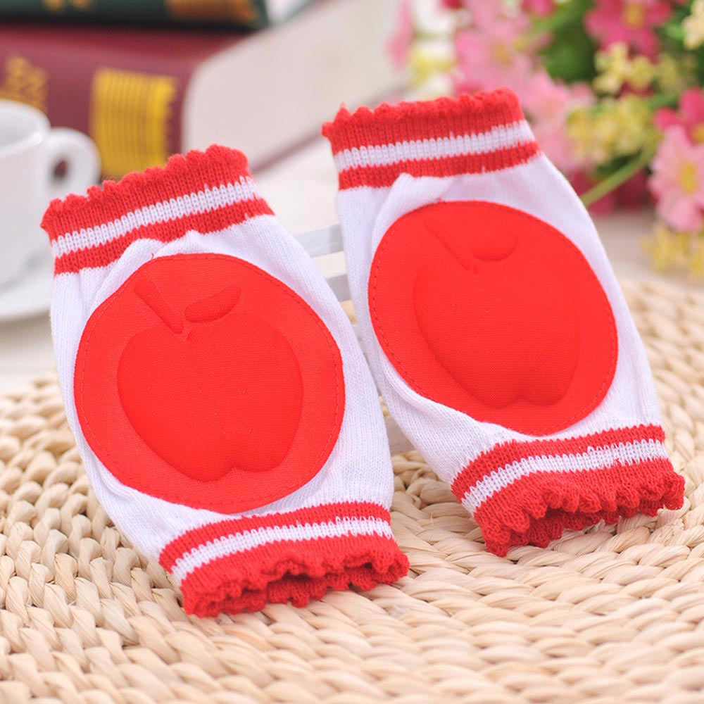 Baby Red Safety Foam Padded Knee Protector Pads