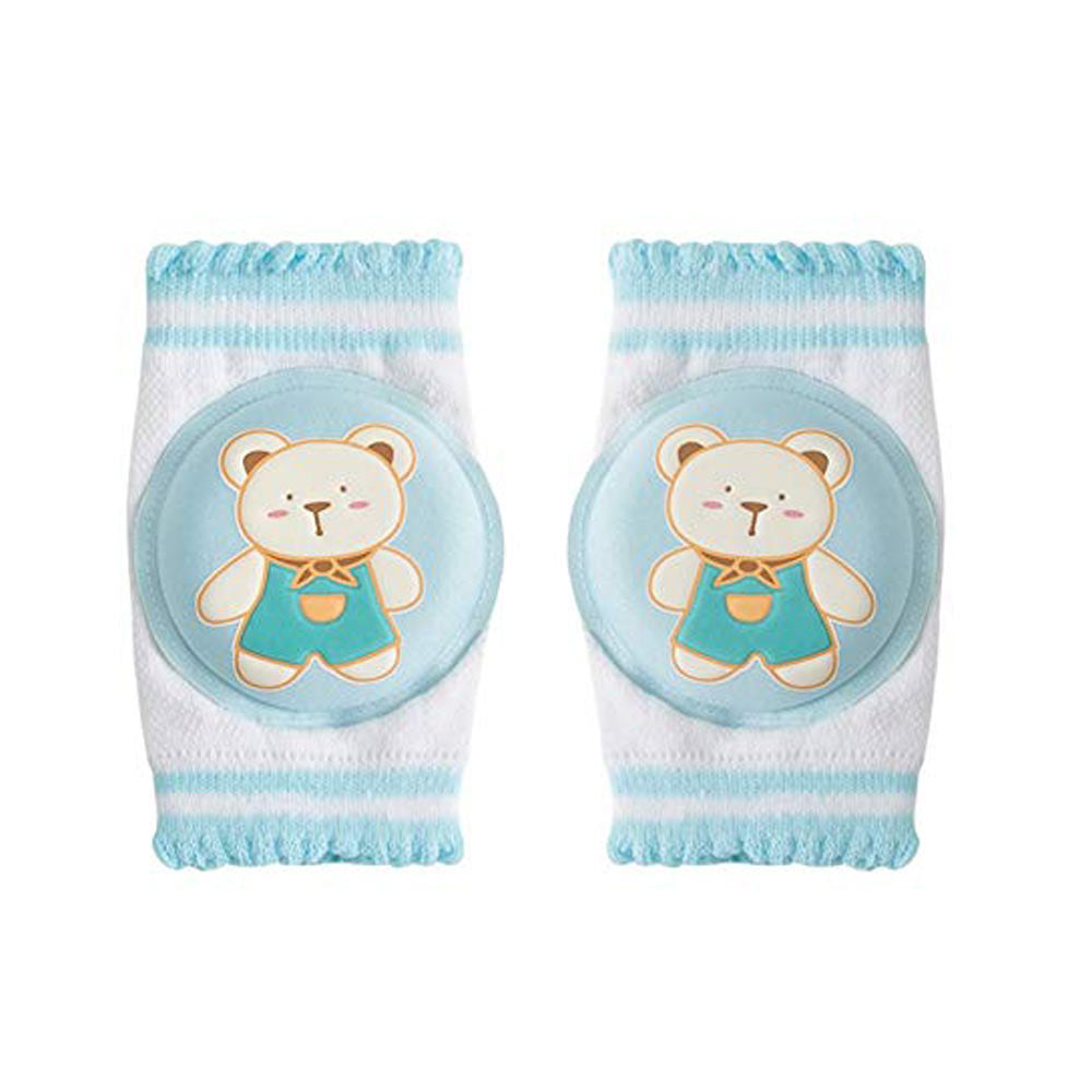 Baby Blue Bear Printed Knee Pads