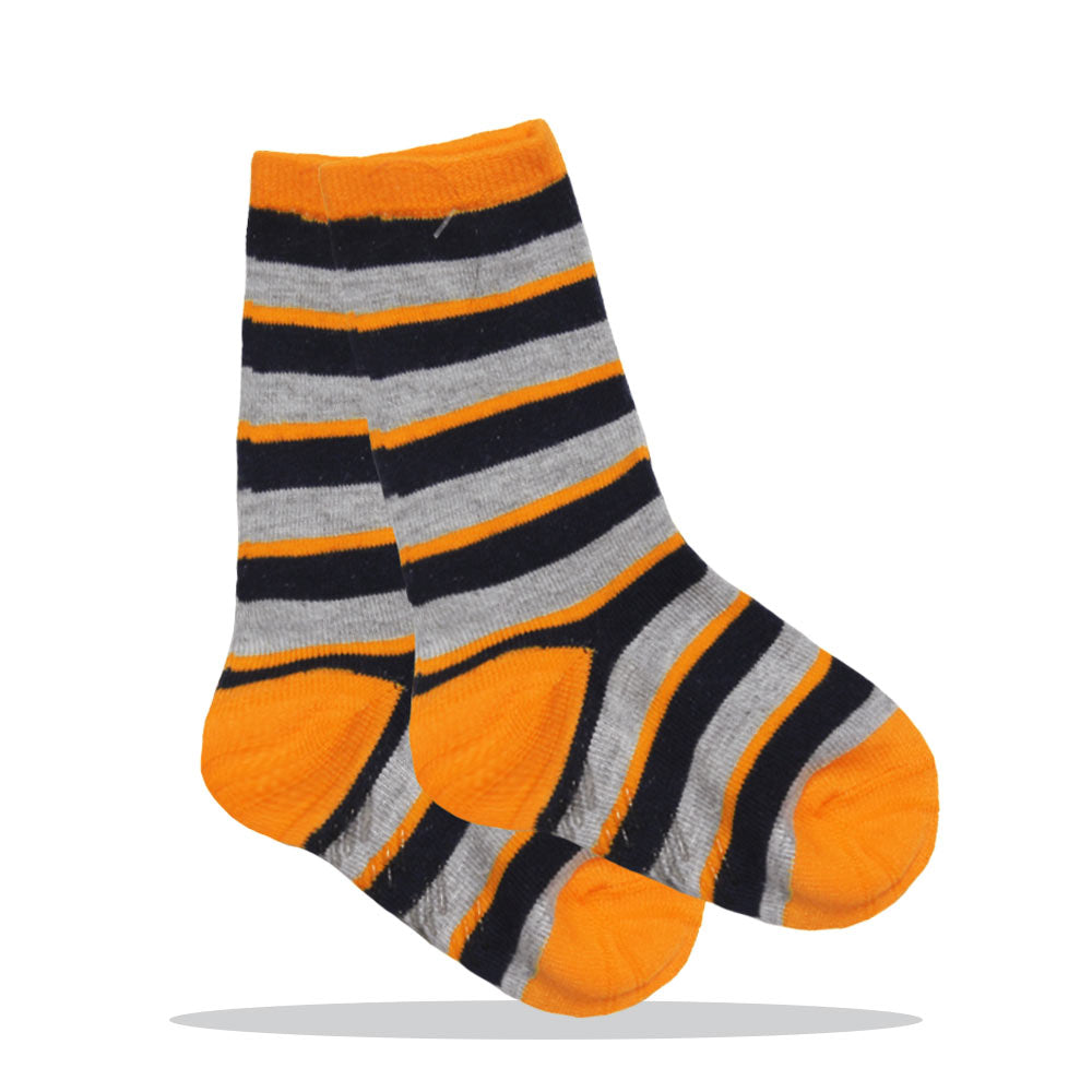 Black And Yellow Stripes Boys Cotton Socks
