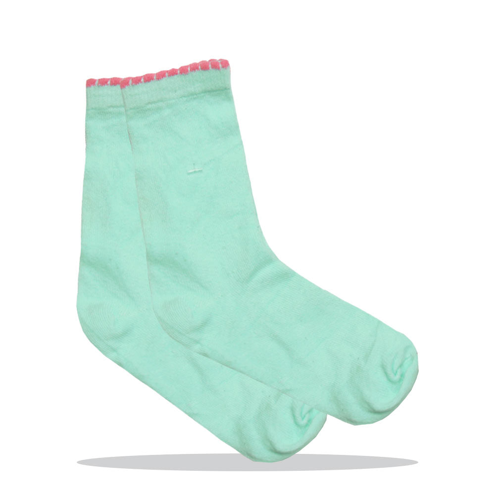 Blue And Pink Girls Cotton Socks
