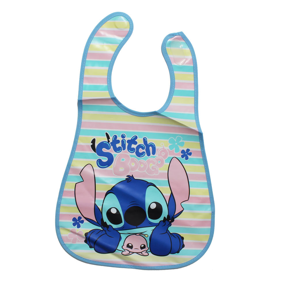 Baby Soft Waterproof Blue Stitch Boo goo Print Girls Bib
