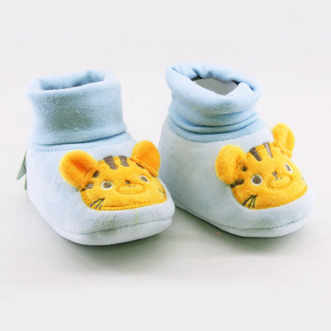 CHUBBY UHAA Blue Woolen Unisex Soft Sole Shoes