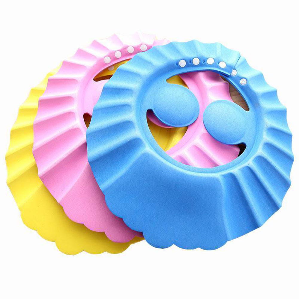 Adjustable Baby Shower Cap Child Kids Shampoo Bath Hat Wash Hair Shield