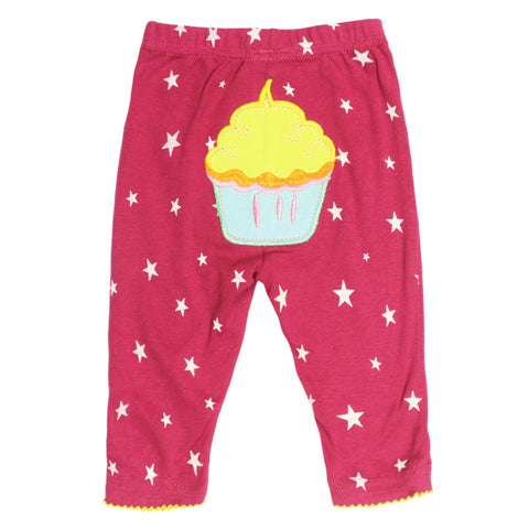 CARTER Cake Embroidery Star Print Pink Girls Cotton Trouser