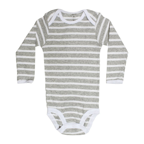 CARTER Grey And White Boys Cotton Romper